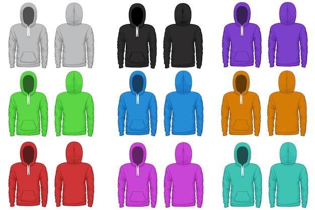 Raglan hoodie vector sjabloon. stoffen raglan, sweatshirt met capuchon, kledingstukillustratie dragen