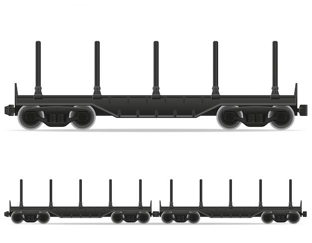 Railway carriage train vector illustratie
