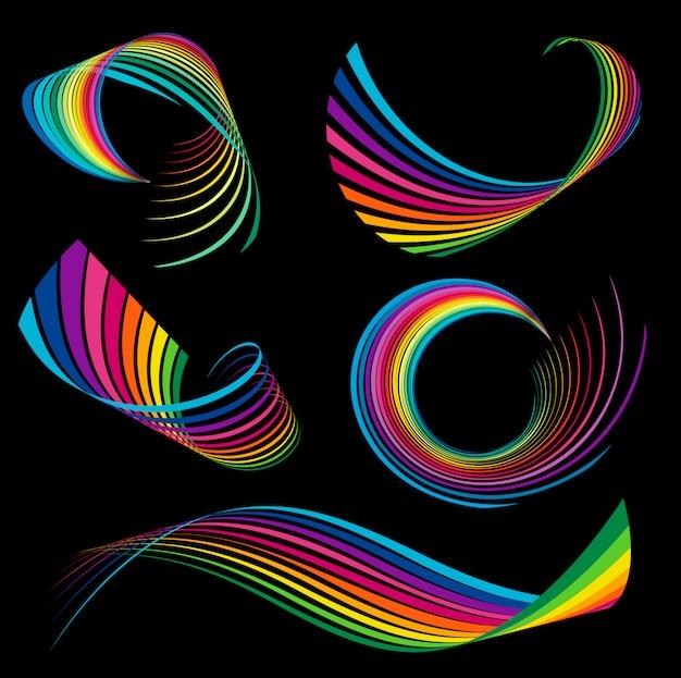 Rainbow linten