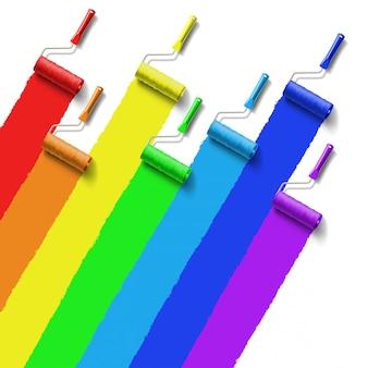 Rainbow rolborstel