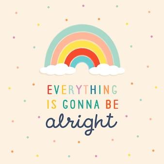Rainbow schattige positieve achtergrond