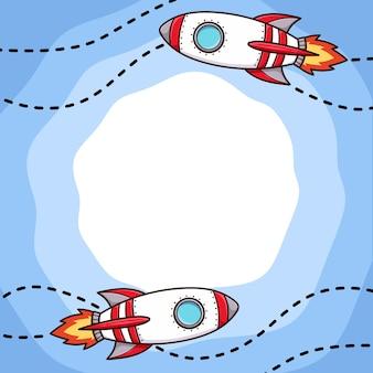 Raket achtergrond art cartoon vector geïsoleerd