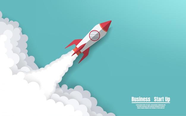 Raket lanceert naar de hemel