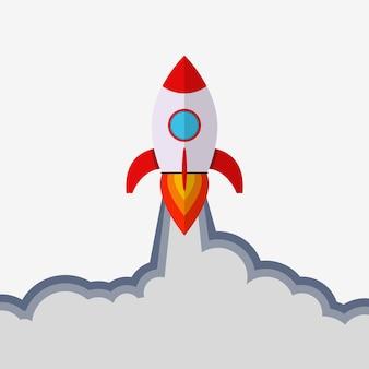 Raket lancering. opstarten concept