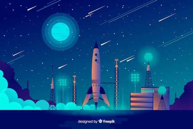 Raket opheffende achtergrond