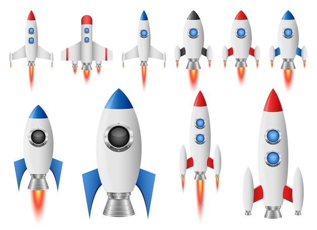 Raket ruimteschip illustratie geïsoleerd op een witte achtergrond