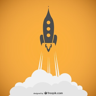 Raket schets vector