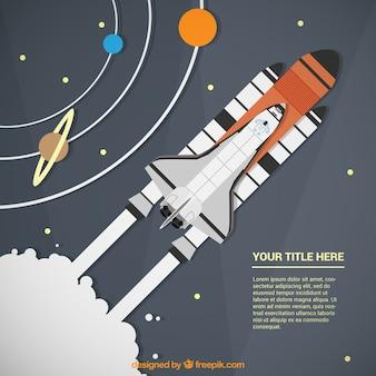Raket schip infographic template