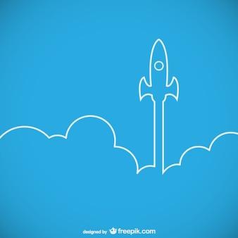 Raket schip lancering overzicht