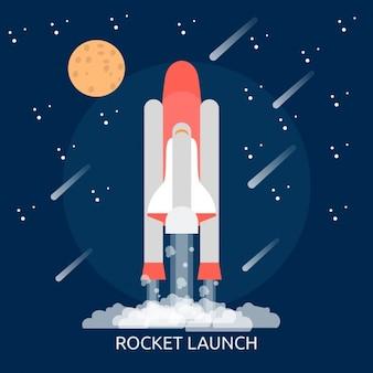 Raketlancering achtergrond