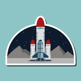 Raketontwerp. wetenschap concept. kosmos, vectorillustratie