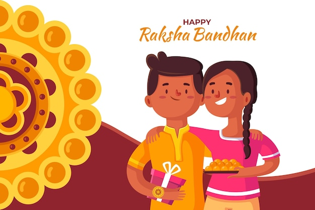 Raksha bandhan achtergrond concept