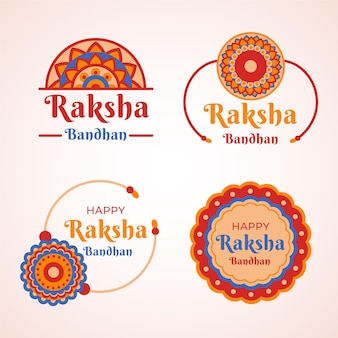 Raksha bandhan badges sjabloon