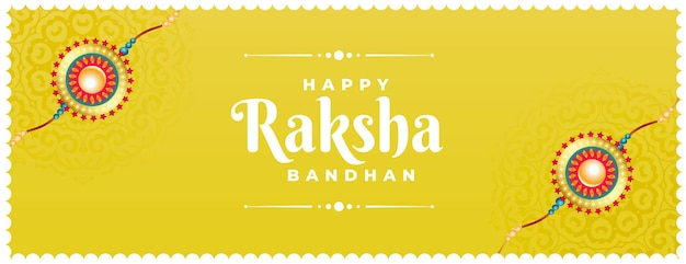 Raksha bandhan-banner met rakhi-ontwerp