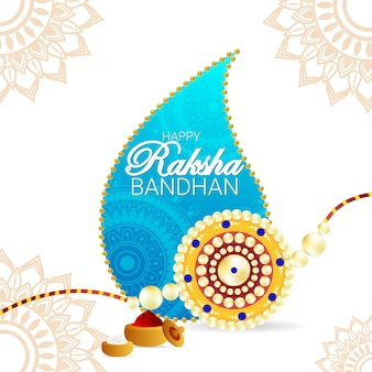 Raksha bandhan creatieve rakhi en achtergrond