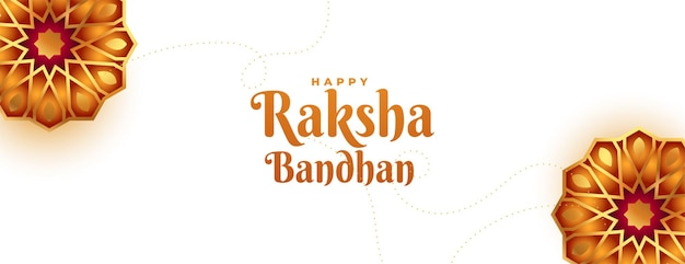 Raksha bandhan decoratief bannerontwerp