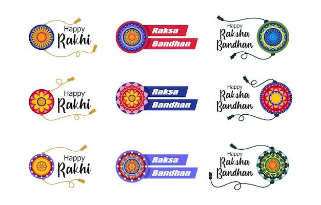 Raksha bandhan festival-elementenset