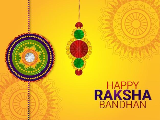 Raksha bandhan festival van broer en zus viering