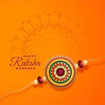 Raksha bandhan festivalkaart met decoratieve rakhi