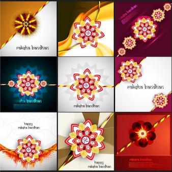 Raksha bandhan groeten-collectie