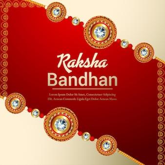 Raksha bandhan indiase festival viering achtergrond