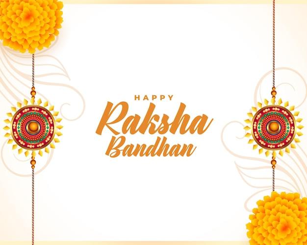 Raksha bandhan traditioneel festival wenskaart ontwerp