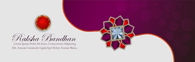 Raksha bandhan uitnodigingsbanner met creatieve rakhi