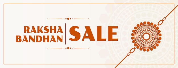 Raksha bandhan-verkoopbanner met plat rakhi-ontwerp