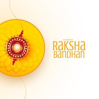 Raksha bandhan wenst kaart mooi ontwerp