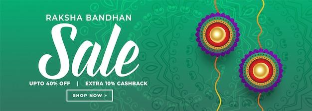Rakshabandhan festival verkoop bannerontwerp