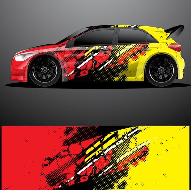 Rally auto sticker grafische wrap vector, abstracte achtergrond