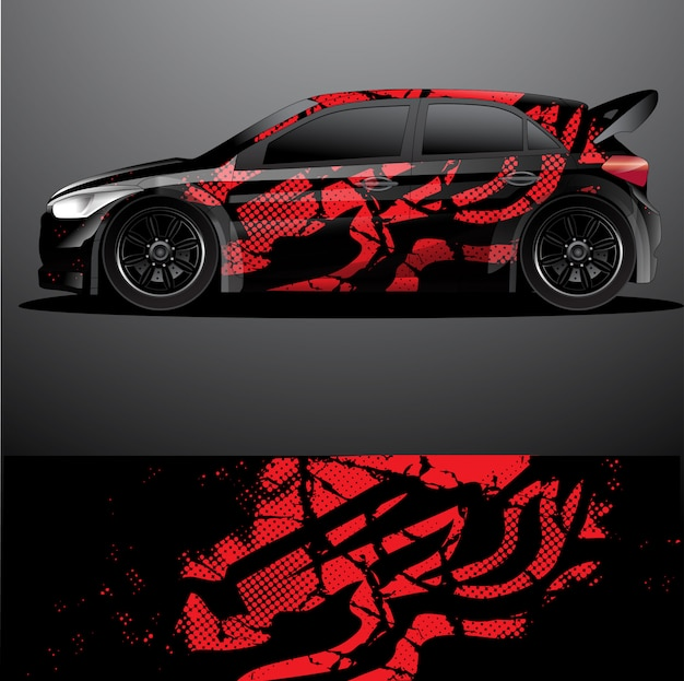 Rally auto sticker grafische wrap