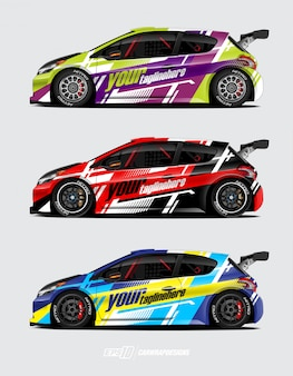 Rally auto wrap set