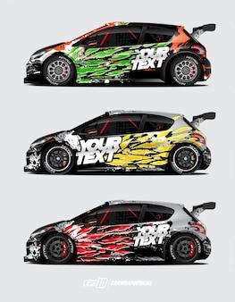 Rally auto wrap set