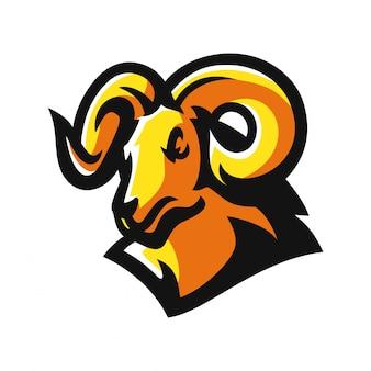 Ram, geit esport gaming mascotte logo sjabloon