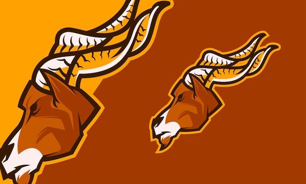 Ram geit hoofd premium vector mascotte illustratie