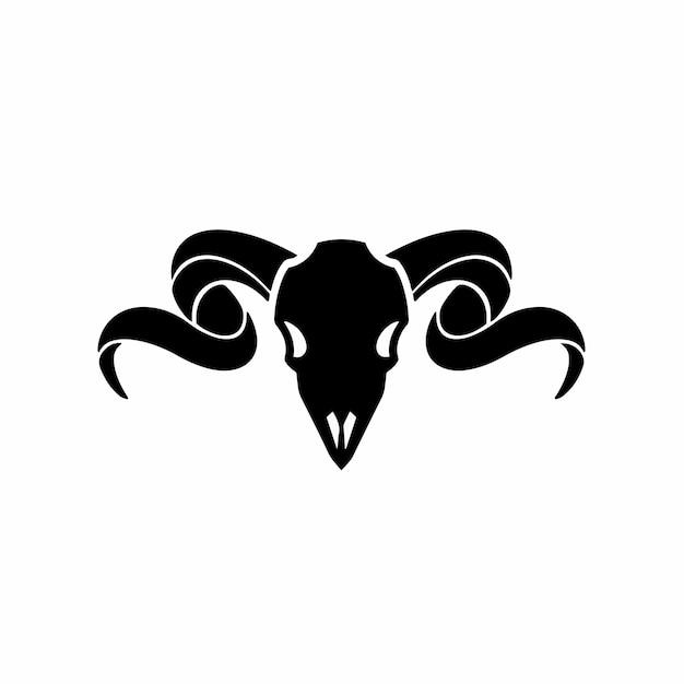 Ram symbool logo tattoo design stencil vectorillustratie