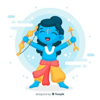 Rama-karakter met pijl en boog