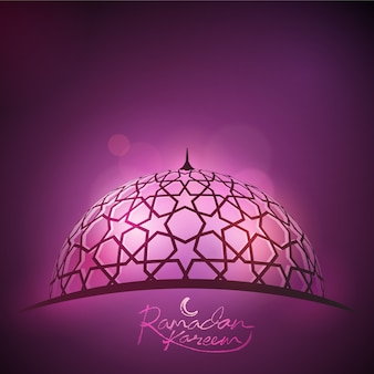 Ramadan achtergrond lichtstraal