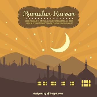 Ramadan achtergrond met maan