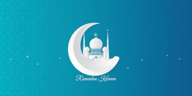 Ramadan achtergrond met moderne islamitische decoratie