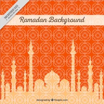 Ramadan achtergrond met moque