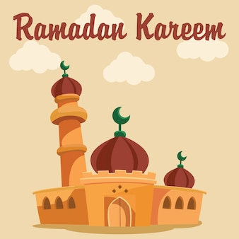 Ramadan achtergrond ontwerp