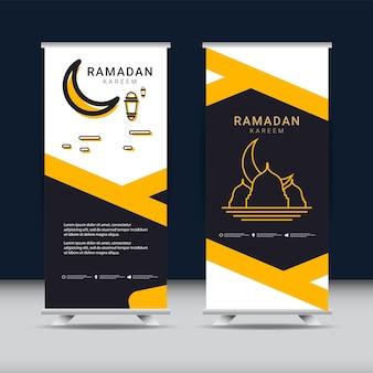 Ramadan banner ontwerpsjabloon gouden islamitisch ornament
