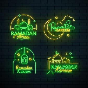 Ramadan belettering neon teken