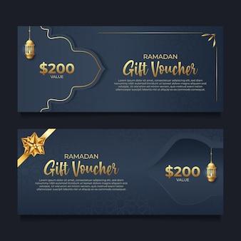 Ramadan-cadeaubon met gouden stijl