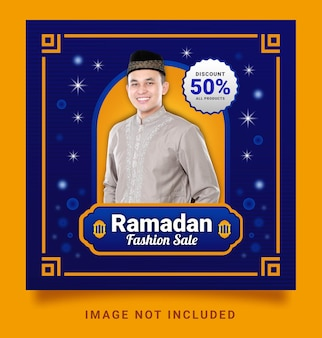 Ramadan fashion sale post social media-sjabloon