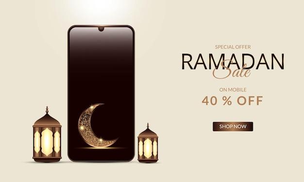 Ramadan festival banner promotie sjabloon