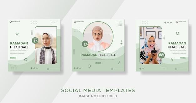 Ramadan hijab-verkoopbanner voor zakelijke mode-sjabloonpost