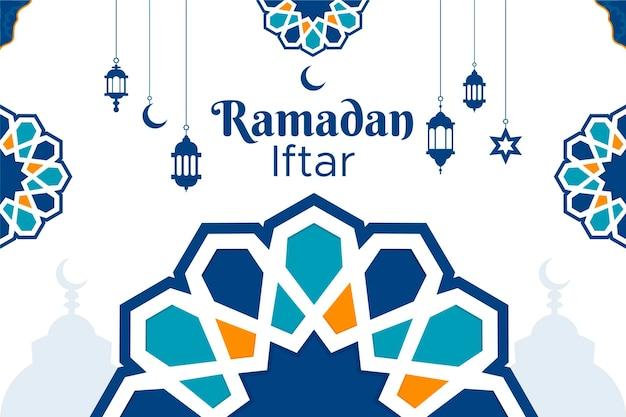 Ramadan iftar achtergrondontwerp